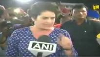 Kathua, Unnao rape case: Priyanka Gandhi loses her cool at journalists and Congress workers during midnight candlelight march at India Gate; see video