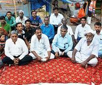 Dalits on hunger strike