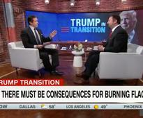 'These things matter': CNN anchor scolds Trump spokesman after he won't say flag burning is constitutional