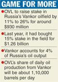 ONGC Videsh raises stake in Russian field