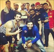 Check out Ranbir Kapoor poses with his team after winning the charity football match
