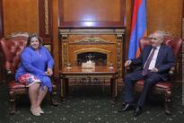 Parliament Speaker holds meeting with Greek Ambassador to Armenia