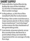 Coal shortage shuts 40% thermal power capacity in Rajasthan, Maharashtra