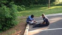 Photo of officer consoling teen goes viral