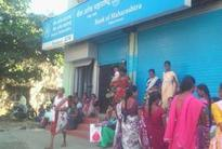 Demonetisation blues: Vasai residents stage sit-in after bank runs out of cash