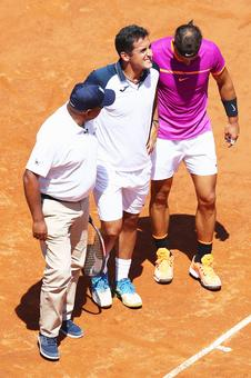 Nadal through to last-16 in Rome after Almagro retires with injury
