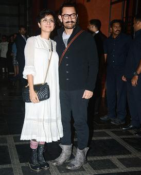 PIX: Aamir-Kiran party with Zaira Wasim