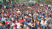 JNU students march to Parliament in protest