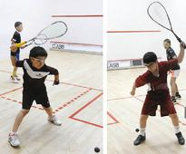 Squash: Ahmad of Pakistan in line for double i... Action from the Doha Junior Open at the Khalifa International Tennis and Squ...