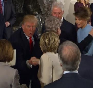 When Trump thanked Clinton for attending his inauguration