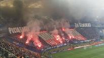 The smoke and flares at the Polish Cup final was terrifying