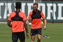 Liverpool trio Jordan Henderson, Adam Lallana and Daniel Sturridge return to Reds training in California
