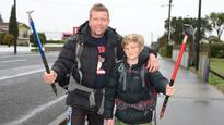 Dad and his lad off to the foot of Everest to help rebuild Nepal's schools