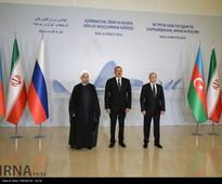 Iranian President meets Russian and Azeri counterparts, urges dialog for all regional disputes