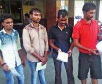 Four dalits allege police brutality