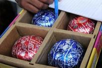 Railway union stocks crackers at Chennai Central station