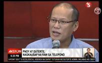 Duterte accepts Aquino's offer of assistance