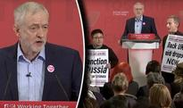 Corbyn HECKLED OFF STAGE as former comrades TURN on leader during speech