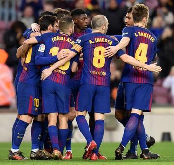 La Liga: Messi, Suarez and Paulinho on target in routine Barca win