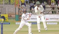 Undefeated ton by De Silva puts Lanka in charge