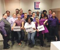 Allies and supporters of LGBT community go purple for Spirit Day