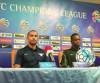 El Jaish eager to draw first blood in AFC quar... El Jaish coach Sabri Lamouchi addressing press during media briefings held y...