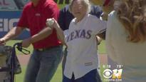 CBS US News: 105-year-old woman throws out first pitch at Texas Rangers game