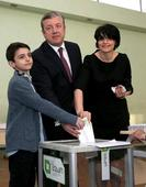 Georgian Officials Vote On Election Day