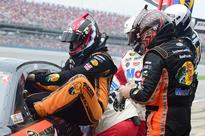 Tony Stewart turns car over to Ty Dillon swap takes 77 seconds