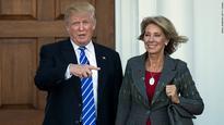 Trump's choice for education secretary raises questions