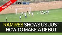 Watch former Chelsea star Ramires score a sweet volley on his Jiangsu Suning debut