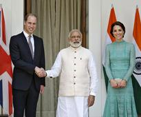 Indian PM hosts lunch for British Prince William, Kate Middleton