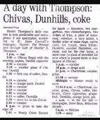 The daily booze and drug routine that kept Hunter Thompson dazed for days