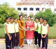 Khalsa women college team comes first in inter-college tournamet