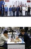Carlsen reigns supreme in Qatar Reigning world champion Magnus Carlsen of Norway poses with his Qatar Master...