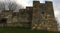 York's city wall at Fishergate reopens with supports added