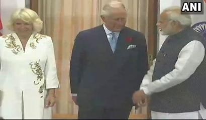 UK's Prince Charles, Camilla meet PM Modi
