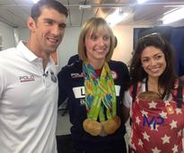 Swimming phenom Katie Ledecky is all smiles after Rio success