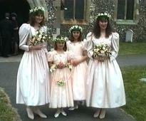 See Duchess Kate and Pippa Middleton as bridesmaids at 1991 wedding