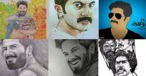 Dulquer Salmaan's official website has 400 fan-made artworks