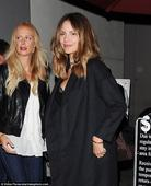 Katharine McPhee flashes a bit of bra as she dines at a ritzy celeb hot spot in West Hollywood