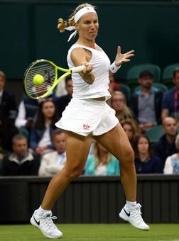PHOTOS Wimbledon: Kuznetsova dumps out Wozniacki; Serena and Murray advance