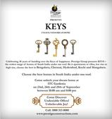Prestige Group presents KEYS - a Residential Expo of Projects in South India to Commemorate 30 Years