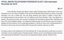 Donald Trump bonds with Nawaz Sharif bigly, it's bromantic, so fantastic