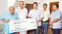 Karassery Bank contributes Rs 5 lakh to Mathrubhumi Ockhi Fund
