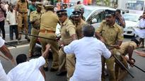 Secretariat sees protests by YC activists; CM shown black flags