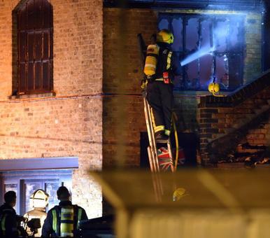 Firefighters battle large blaze at London market