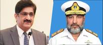 Vice Admiral Masood meets Sindh Chief Minister
