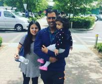 Daddy Dhoni spends time with family ahead of Bangladesh SF