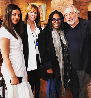 Priyanka rubs shoulders with Whoopi Goldberg, Robert De Niro